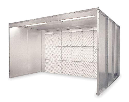 Global Finishing Solutions 8 ft. x 6 ft. x 8 ft. Floor Style Paint Spray Booth - GIFP-886