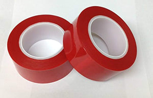 (2) HIGH TEMP RED HIGH TACK POWDER COATING POLYESTER MASKING TAPE 72YDS - 2 INCH