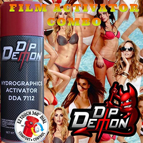 Combo Kit Babe Watch Girls Hydrographic Water Transfer Film Activator Combo Kit Hydro Dipping Dip Demon