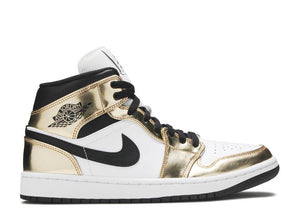 Jordan 1 metallic gold mid