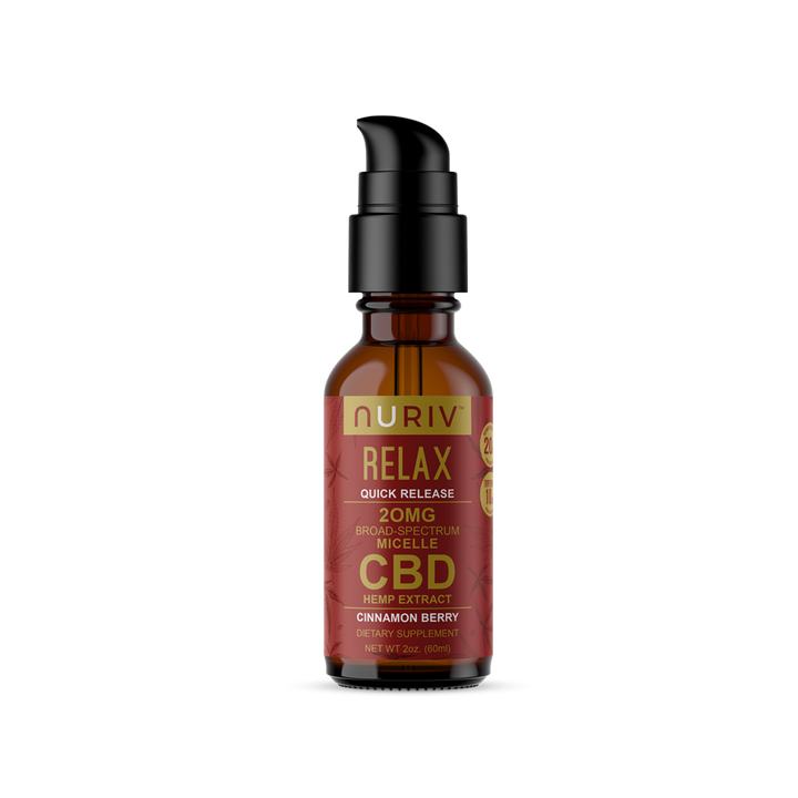 Micelle RELAX (Quick Release) CBD Hemp Extract Tincture