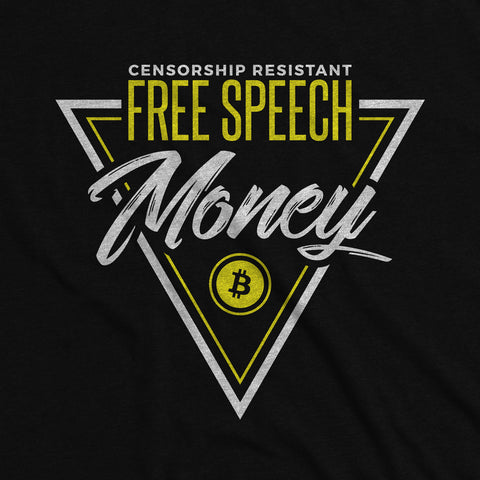 Free Speech Money - Bitcoin Apparel