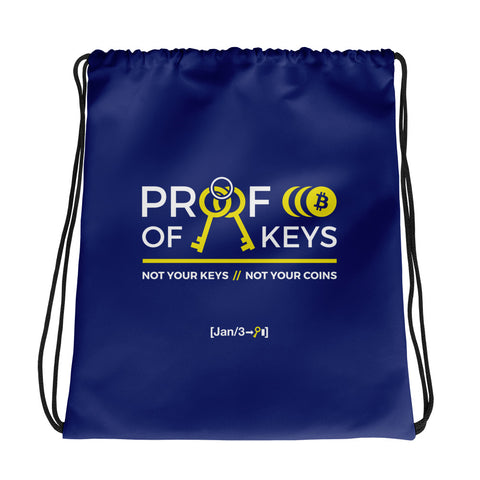 Proof Of Keys - Drawstring bag