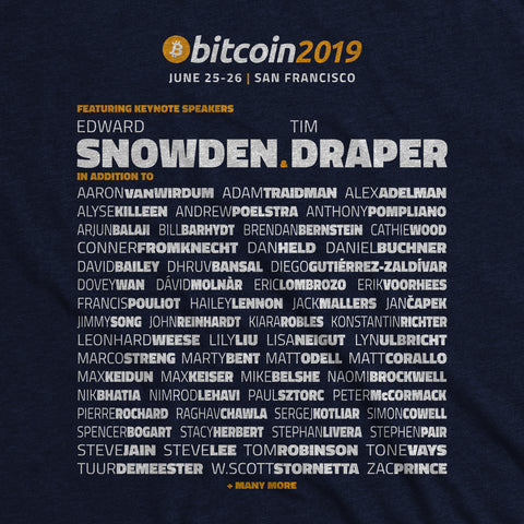 Bitcoin 2019 Conference - OFFICIAL SHIRT