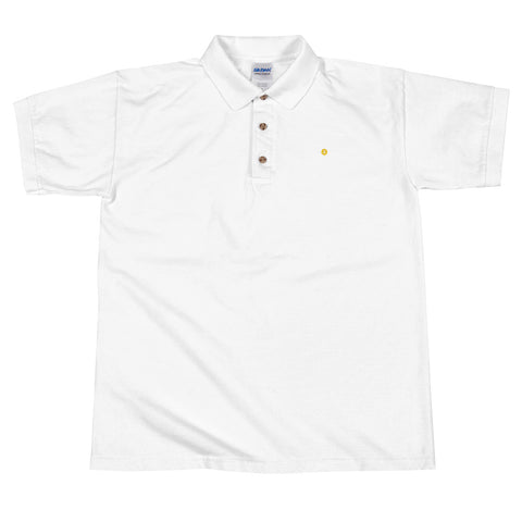 Bitcoin Logo - Embroidered Polo Shirts