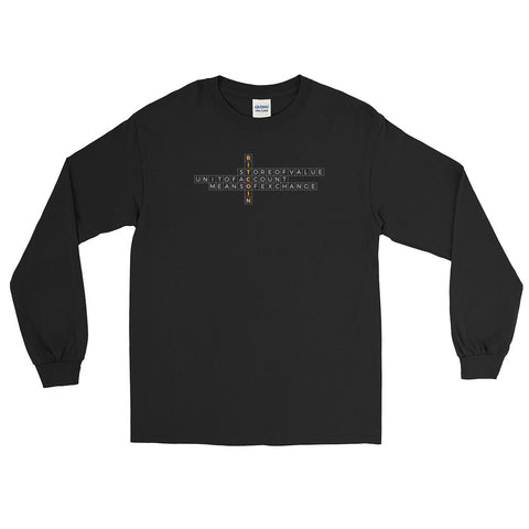 Bitcoin Crossword - Long Sleeve T-Shirt