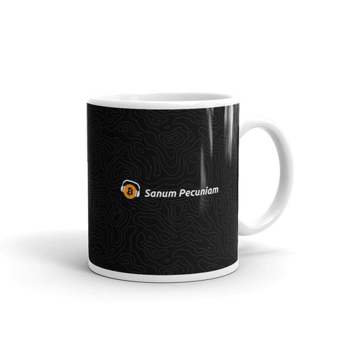 Sanum Pecuniam (Sound Money) - White Glossy Mug