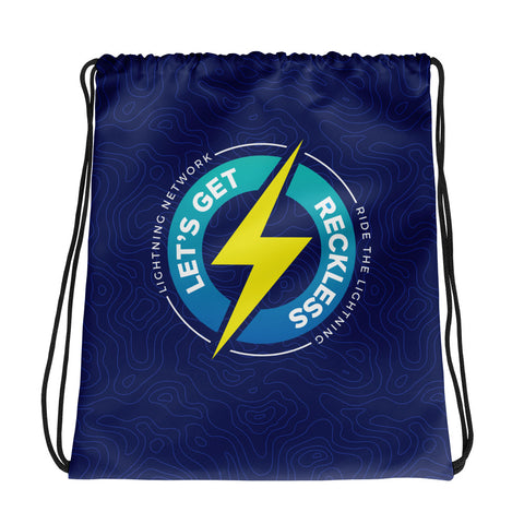Let's Get Reckless - Drawstring bag