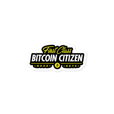First Class Bitcoin Citizen - Stickers
