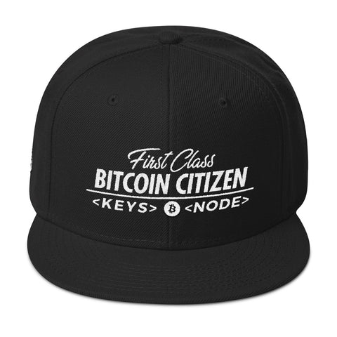 First Class Bitcoin Citizen - Snapback Hat