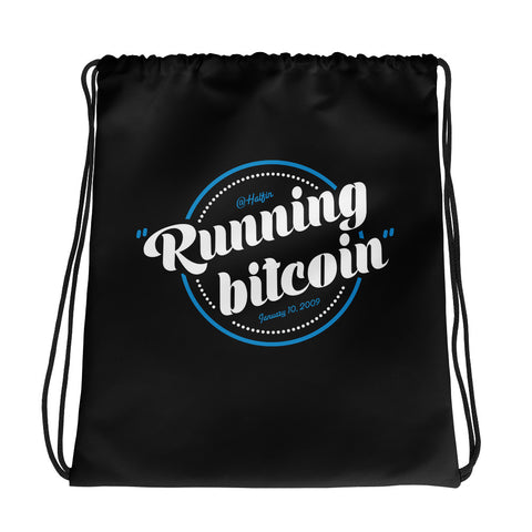 Running Bitcoin - Drawstring bag