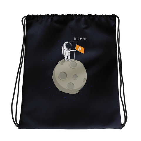 Bitcoin Moonman - Drawstring bag
