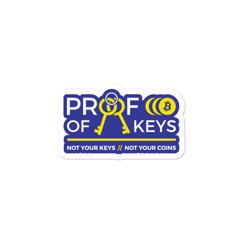 Proof Of Keys - Stickers