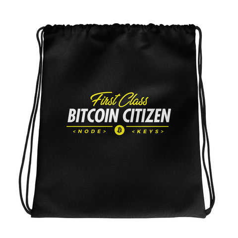 First Class Bitcoin Citizen - Drawstring bag