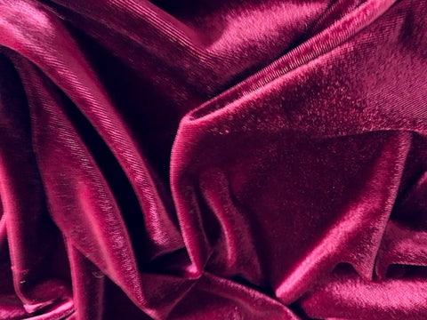 Magenta Stretch Velvet Velour