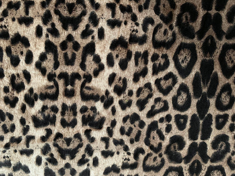 Leopard Stretch Velour