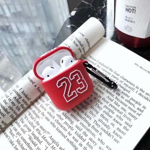 coque airpods jordan rouge