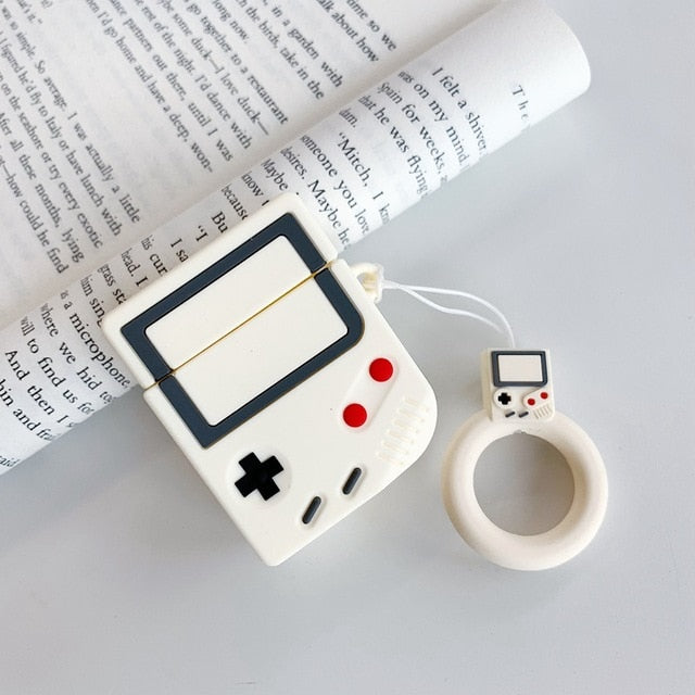 Game boy airpod case Blanc