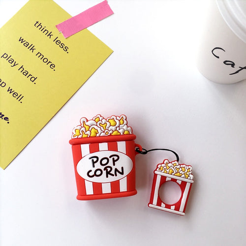 Coque airpods silicone Pop Corn