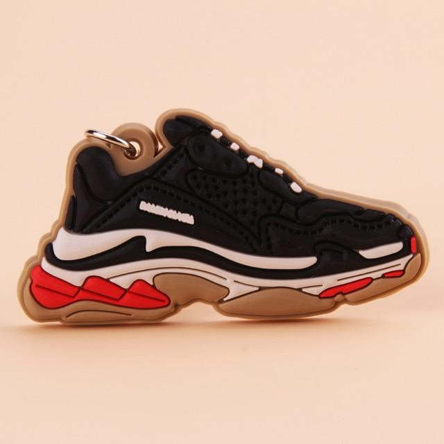 Porte Clé Silicone Balenciaga Triple S Black White Red