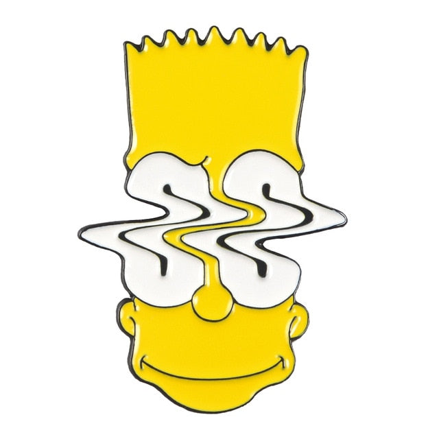 pins bart simpson eyes