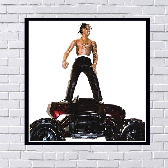 Poster travis scott album rodeo