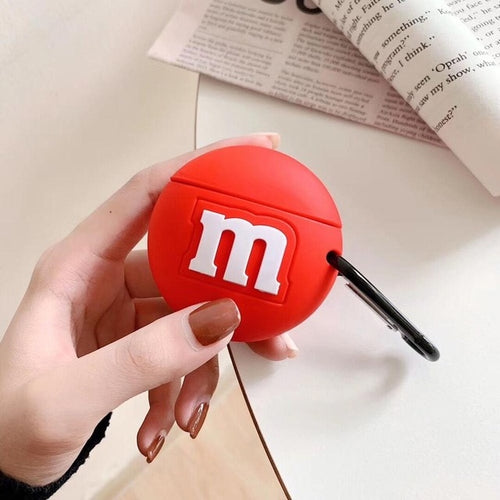 Coque Airpods M&M's Rouge