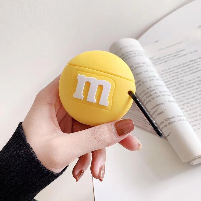 Coque Airpods M&M's Jaune