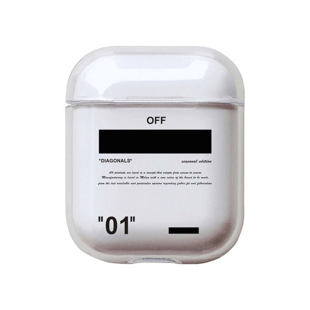 Coque airpods Nike x Off White