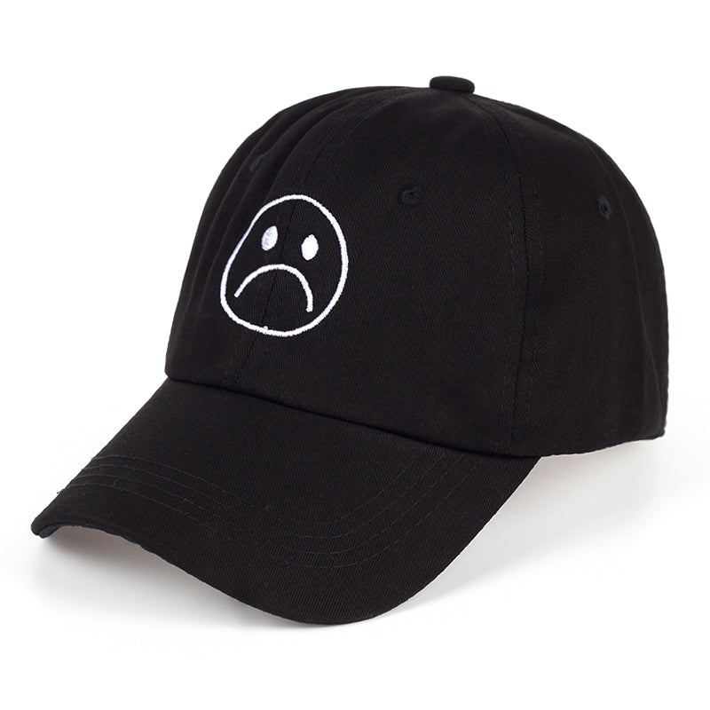 casquette smiley sad