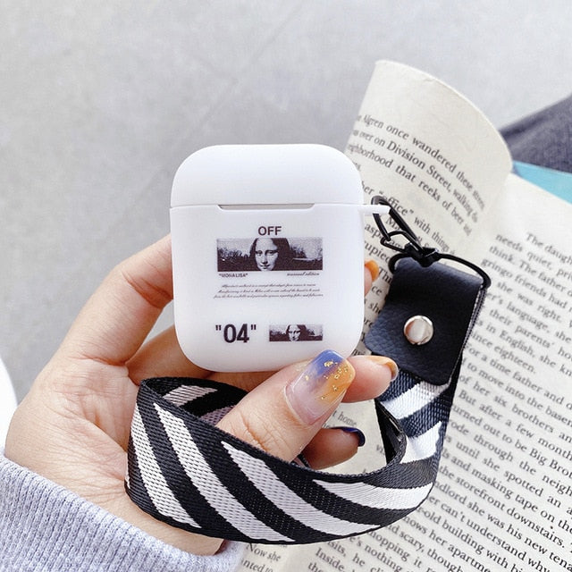 Coque airpods 'Off' Blanc