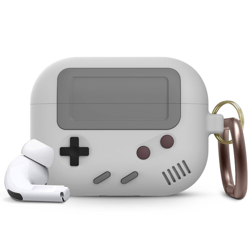 coque airpods gameboy classic gris