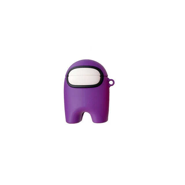 coque airpods 1-2 among us violet