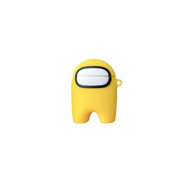 coque airpods 1-2 among us jaune