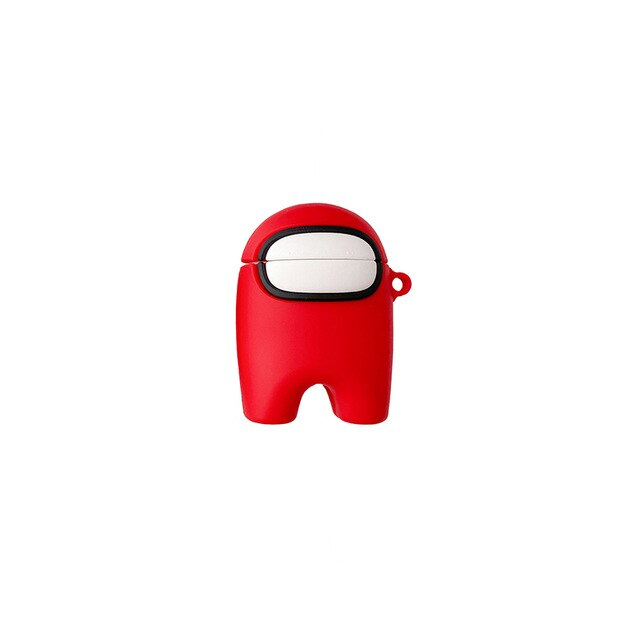 coque airpods 1-2 among us rouge