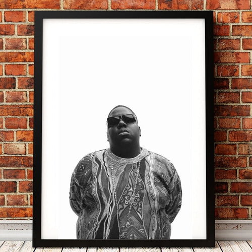 poster notorious big noir et blanc