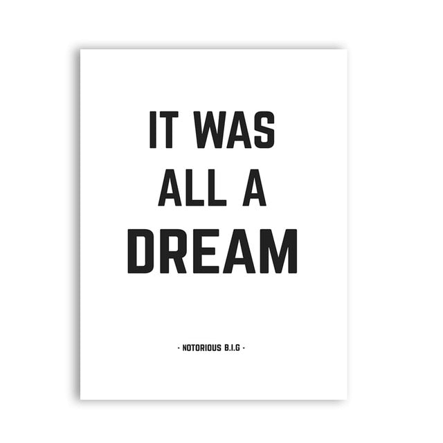 poster it was all a dream notorious big