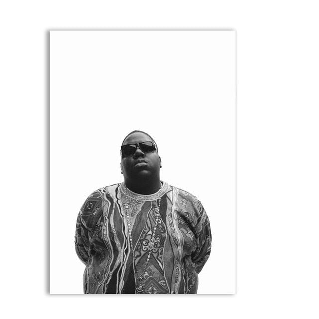 affiche notorious big noir et blanc