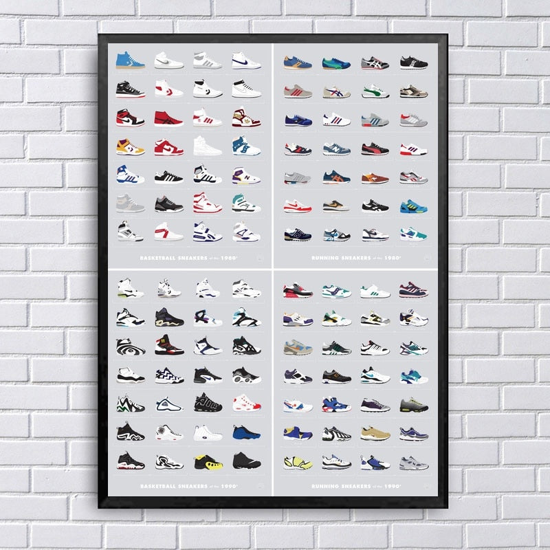 Poster Sneakers 80s 90s