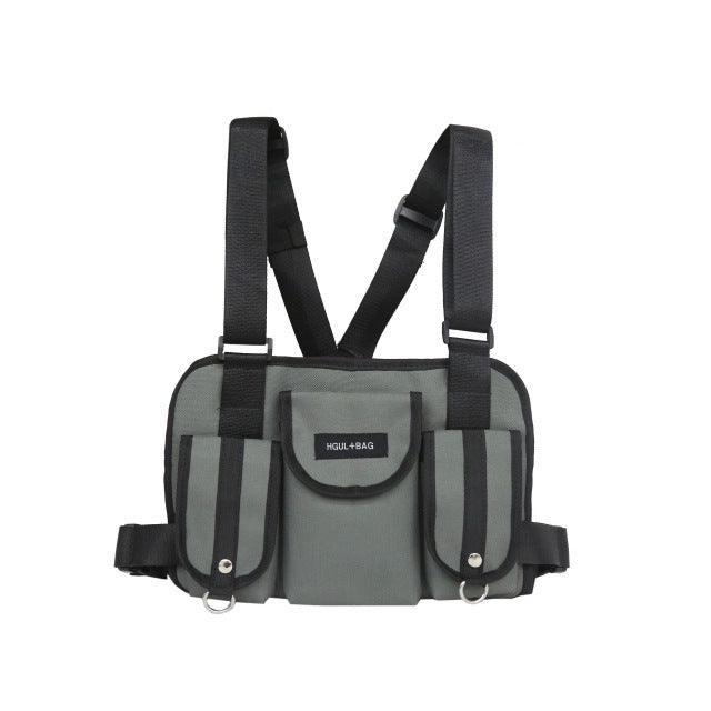 chest bag tactique gris