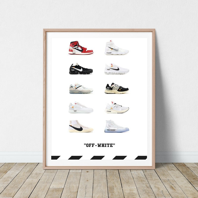 poster basket nike off white