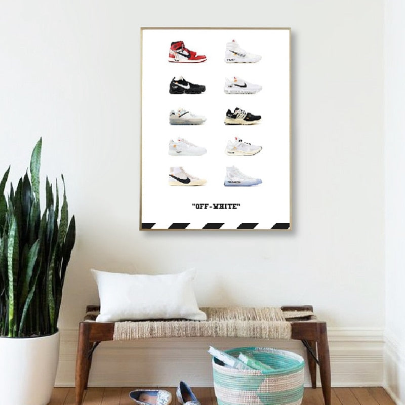 poster sneakers nike off white