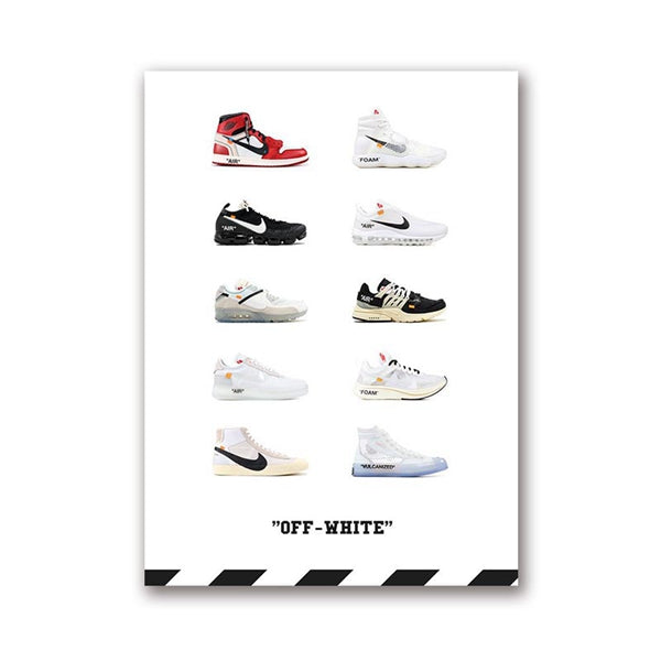 Affiche sneakers nike off white