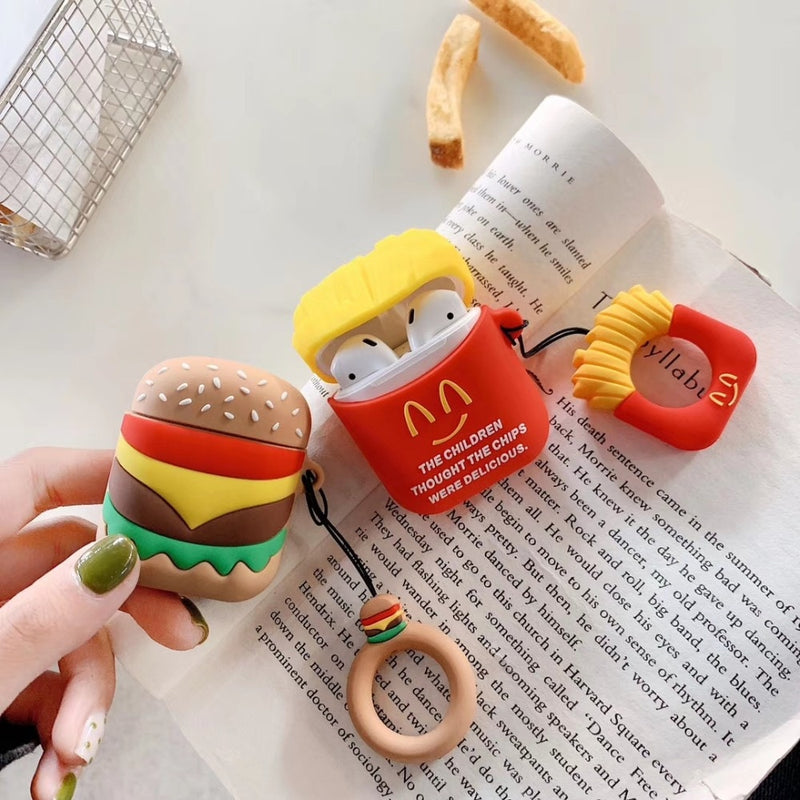 coque airpods mc do frites et burger