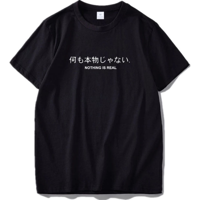 t shirt japonais nothing is real