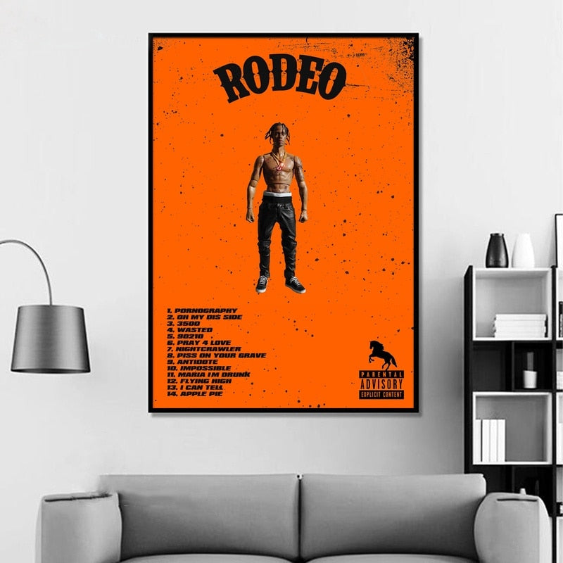 poster travis scott rodeo orange