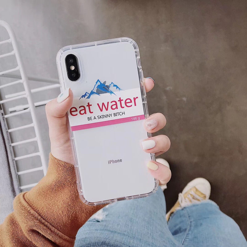 Coque iPhone Eat water Evian