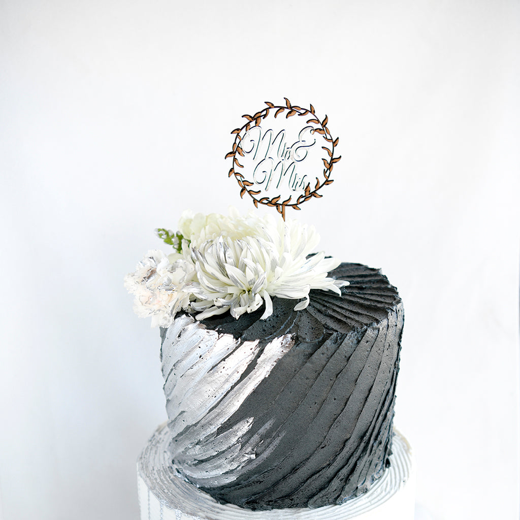Pleasant Charcoal Black White And Silver Wedding Cake Soet Cakes Personalised Birthday Cards Epsylily Jamesorg