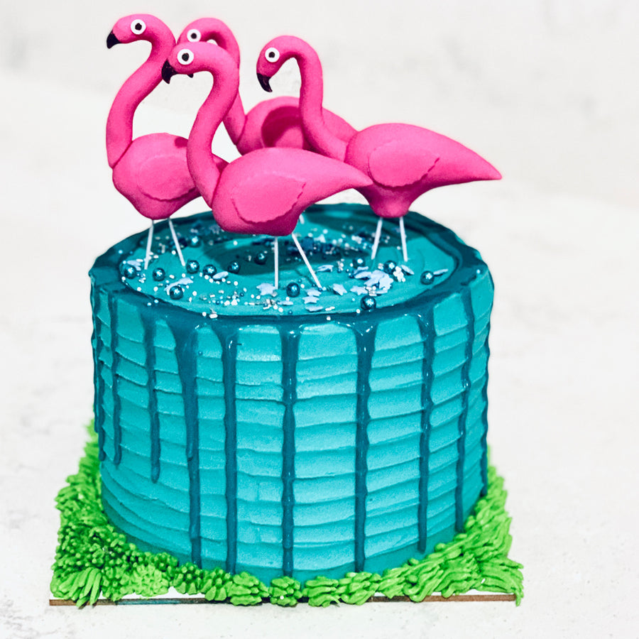 Flamingo Chocolate Cake