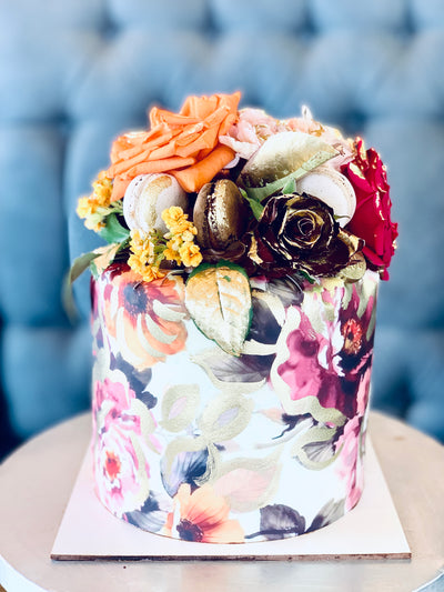 Picasso Flower chocolate cake